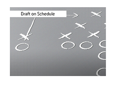 The American football draft is to stay on schedule.