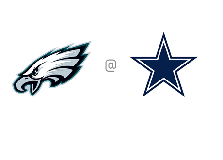 Philadelphia Eagles vs. Dallas Cowboys - NFL Matchups and Betting Odds - Face-off - Team Logos