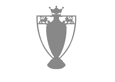 The illustration of the English Premier League trophy.  Colour is gray.