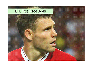 James Milner of Liverpool FC is looking up.  The 2018/19 title race is very much on.  Bet on it!