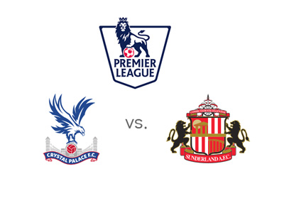 Crystal Palace vs. Sunderland - English Premier League matchup - Odds and preview - Team crests