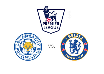 Leicester City vs. Chelsea FC - English Premier League matchup - Team logos / badges - Winning odds