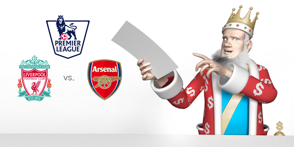 The King presents the upcoming matchup between Liverpool and first place Arsenal in the English Premier League