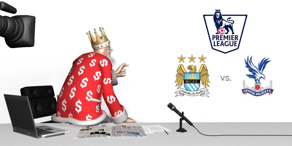 The King is previewing the upcoming match between Manchester City and Crystal Palace in the English Premier League