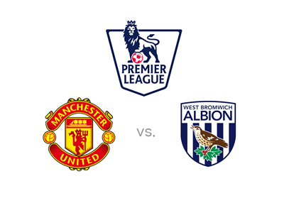 Manchester United vs. West Bromwich Albion - English Premier League matchup - Odds preview and logos
