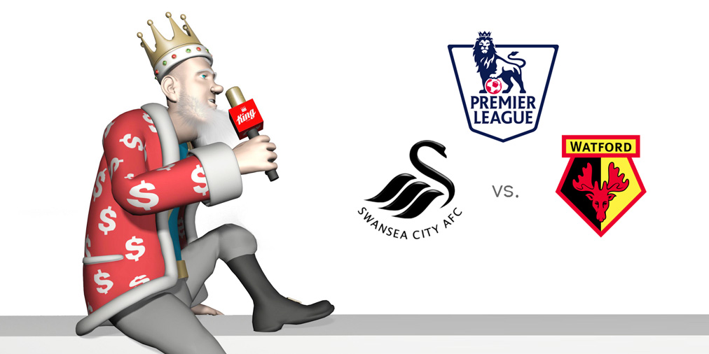 The Sports King presents the upcoming football matchup between Swansea and Watford in the Barclays English Premier League