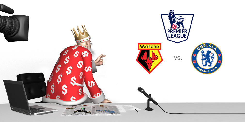 The King is analyzing the upcoming match between Watford and Chelsea FC.  English Premier League
