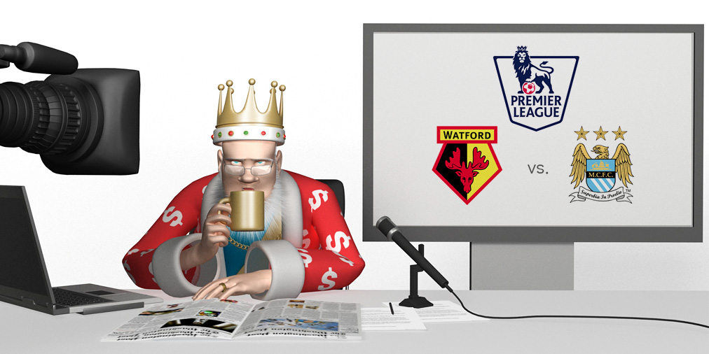 The King is a little hungover from the NYE celebrations.  With coffee in hand he takes us through the Watford vs. Manchester City matchup which is coming up this weekend in the English Premier League