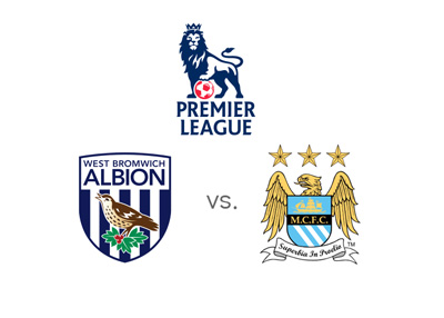West Brom vs. Manchester City - English Premier League matchup and odds - Team logos / badges