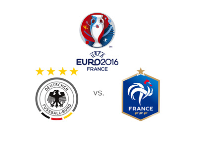 Euro 2016 tournament matchup - Semi-final - Germany vs. France