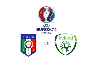 Euro 2016 match between Italy and Ireland - Matchup odds and favourite to win