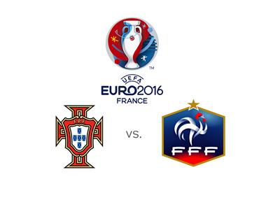 Euro 2016 final matchup - Portugal vs. France - Paris, July 10th, 2016