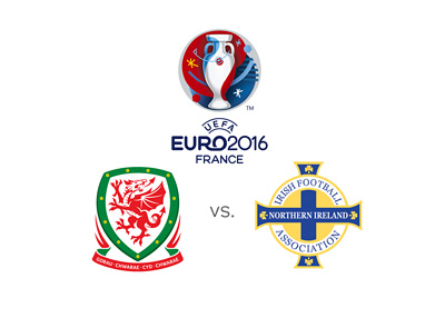 EURO 2016 matchup between Northern Ireland and Wales - Round of 16