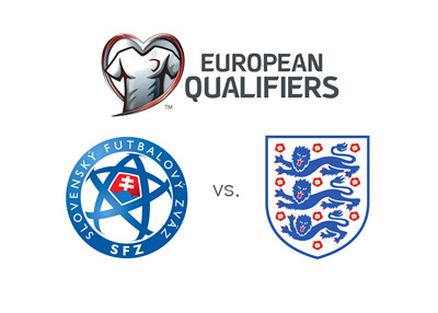 European Qualifiers - World Cuo 2018 Russia - SLovakia vs. England - Logos and crests