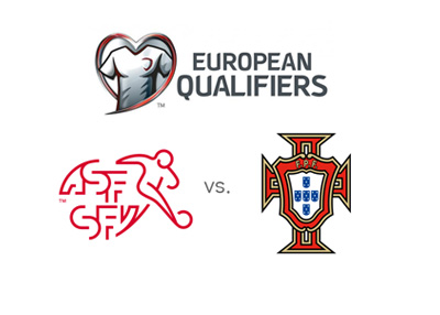 Euro Qualifiers - World Cup 2018 Russia - Switzerland vs. Portugal - Team crests and matchup