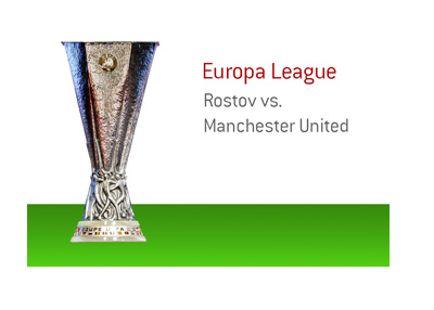 The Europa League matchup between Rostov and Manchester United.  2016/17 season.