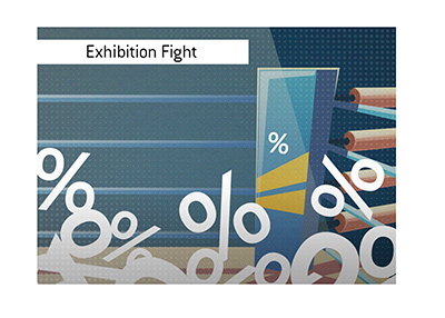 The upcoming exhibition boxing match is drawing a lot of attention.