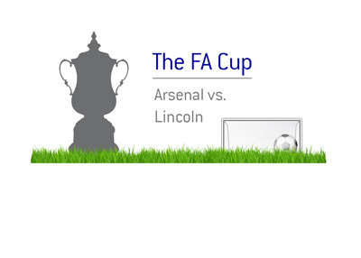 The FA Cup action - Arsenal vs. Lincoln - Season 2016/17.  Matchup and odds.