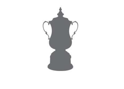 The FA Cup trophy silhouette.