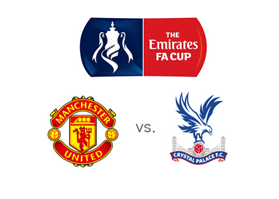 The FA Cup final 2016 - Manchester United vs. Crystal Palace - Matchup, logo, crests and odds