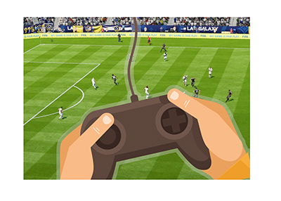 The competitive video game soccer is rising in popularity.  EA Sports FIFA eWorld Cup is growing.