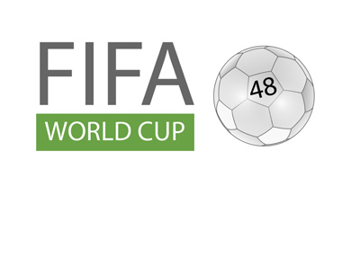 The generic version of the FIFA World Cup logo / sign.  With 48 teams.