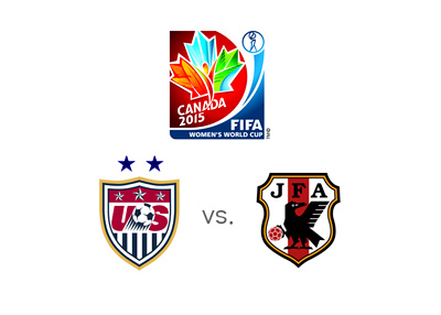 USA vs. Japan - FIFA Womens World Cup - Matchup and logos - Favourite to win