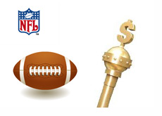 Kings Money Stick next to a football and the NFL logo