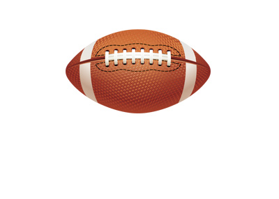 The vector drawing of a football.  American.  Pigsin.