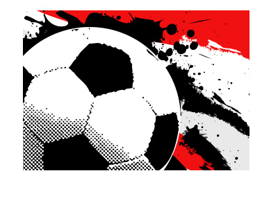 Football pop art - Red background - LFC vs. Gunners.