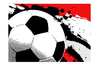 Football pop art - Red background - LFC vs. Gunners.