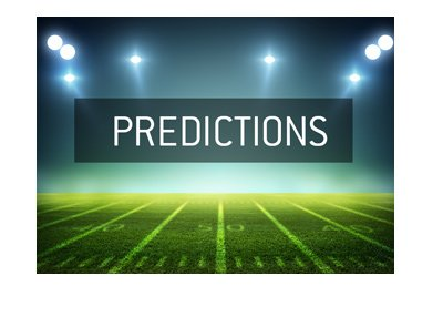 Football Predictions - National League - Night stadium shot and lettering.