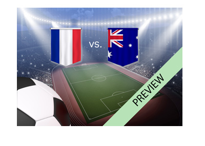 WC 2018 - France vs. Australia - Matchup preview and betting odds.  Who is the favourite to win?