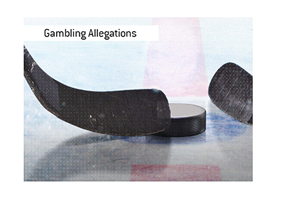 Gambling allegations involving a San Jose player have surfaced in North American hockey.