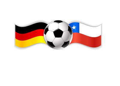 Football - Confederations Cup - Russia - Match - Final - Germany vs. Chile - Ball and flags.