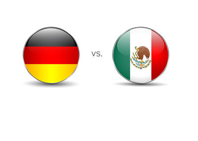 Germany is playing against Mexico in the 2017 Confederations Cup.  The tournament is taking place in Russia.