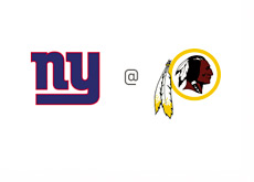 New York Giants at Washington Redskins - Matchup - Team Logos