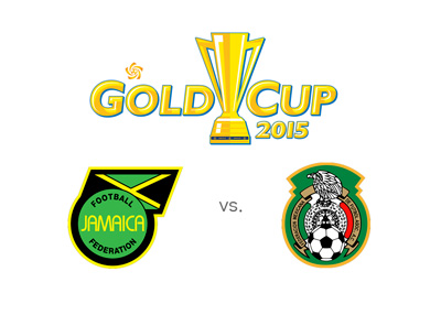 Jamaica vs. Mexico - CONCACAF Gold Cup 2015 - Tournament logo, odds, matchup and team crests