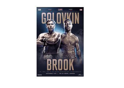 Gennady Golovkin vs. Kell Brook - Event poster - July 2016