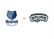 Memphis Grizzlies vs. San Antonio Spurs - Machup and Logos