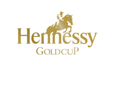 The Hennessy Gold Cup - Horse race - Event logo and branding (in gold) - Year 2016.