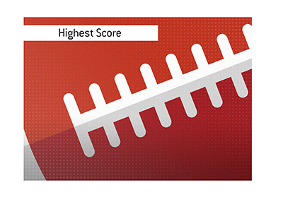 And the highest score in college football is...