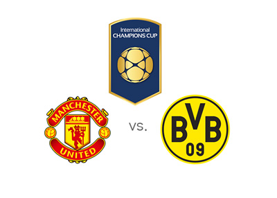 The opening game of the 2016 International Champions Cup - Manchester United vs. Borussia Dortmund - July 2016