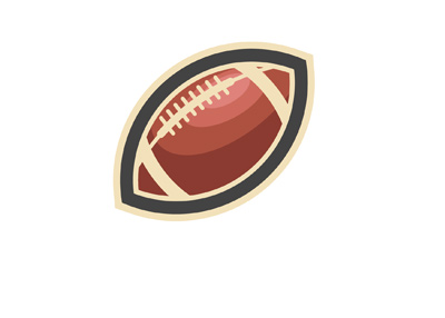 The illustration of a football.  American number one sport. Stylized.