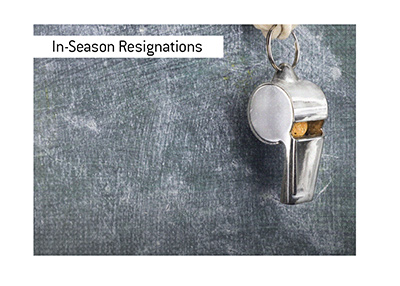 In-season resignations in the NFL are not common but there are examples from the past.