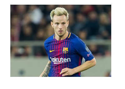 Barcelona FC midfielder - Ivan Rakitic - Mid game action photo.