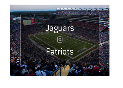 Jacksonville Jaguars are being hosted by New England Patriots at the Gillette Stadium in Foxboro.  The winner goes to the Superbowl.