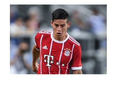 Bayern Munich new signing for 201`7/18 season - James Rodriguez.  In action.
