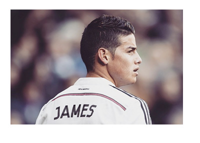 James Rodriguez - Real Madrid - Back photo - Number 10 - Home jersey - 2014/2015