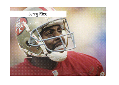 San Francisco 49ers quarterback of the past - Jerry Rice.